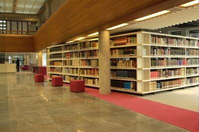 Studiezaal van  Tresoar (foto: Haye Bijlstra)